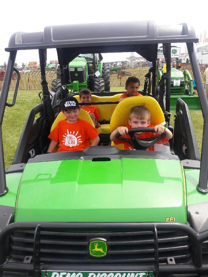 boys in john deere